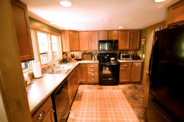 Lakeside Cabin Remodel traditional-kitchen