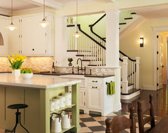 Lakeside Family Cottage traditional kitchen