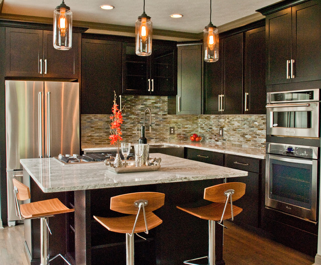lakey kitchen contemporary kitchen indianapolis by by design llc. Black Bedroom Furniture Sets. Home Design Ideas
