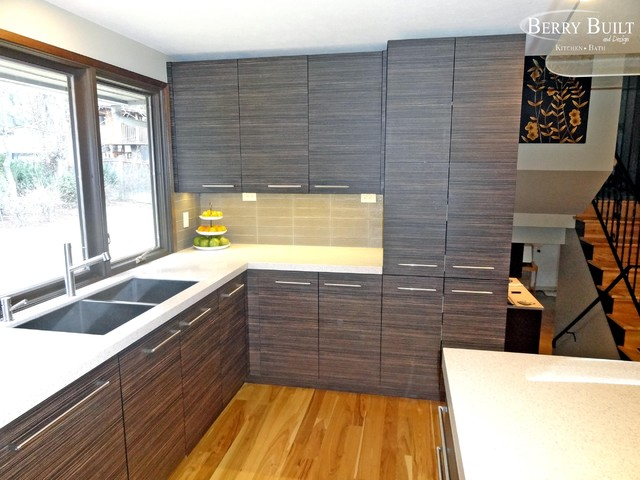 Laminate cabinetry with quartz counters - Modern - Kitchen - Seattle ...