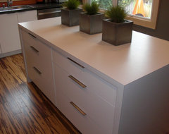 Laminate countertops modern kitchen