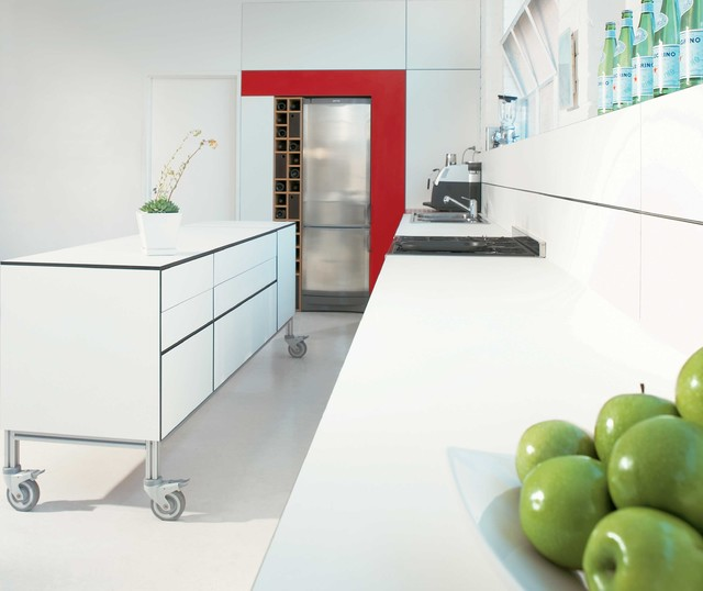 Laminex Compact Laminate Polar White Benchtop And