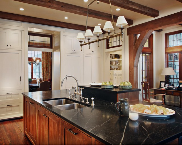 Landrum SC residence rustic kitchen