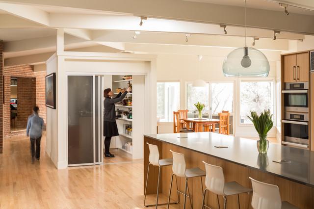 Langley-Hawthorne Residence midcentury-kitchen
