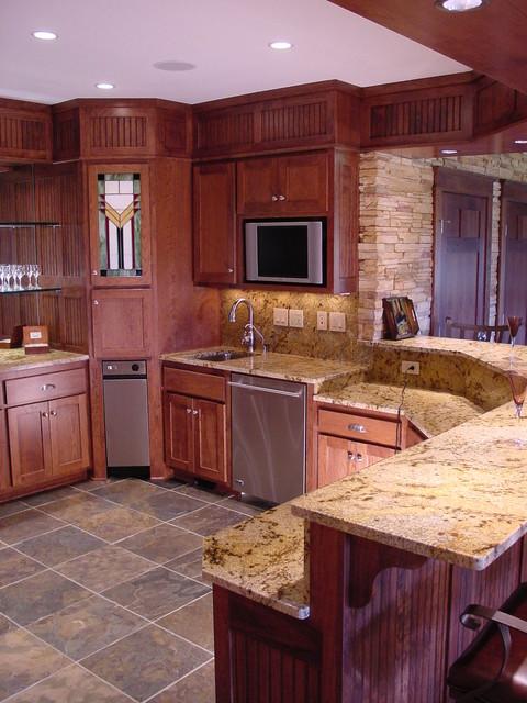 Large Custom Bar traditional-kitchen