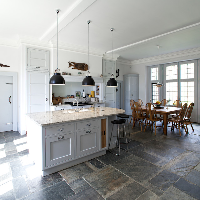 Large extension of country manor in cornwall for Traditional kitchen extensions