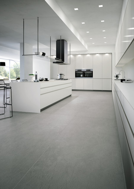 Large Format Porcelain Modern Kitchen
