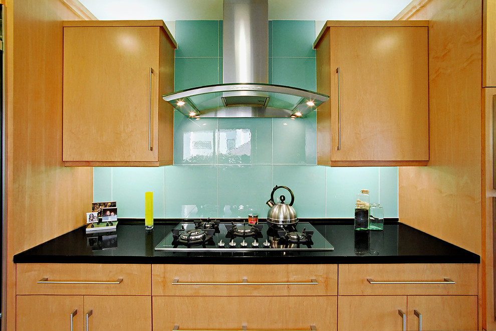 Large Glass Tile Backsplash Contemporary Kitchen Los Angeles By The Kitchen Collection