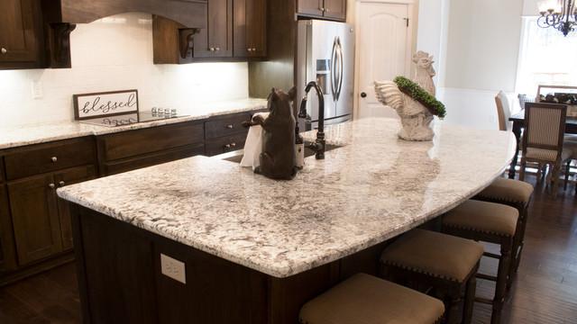 Large Granite Kitchen Island