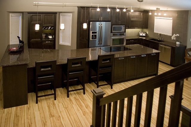 Large Island Contemporary Kitchen Other by Centennial 360