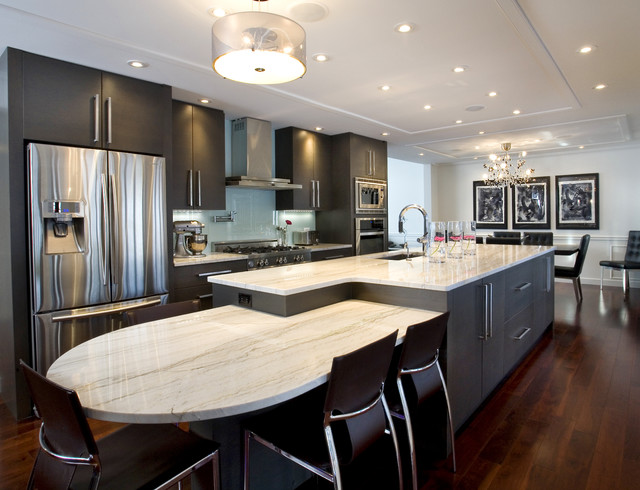 Large island contemporary kitchen other by for Modern large kitchen design