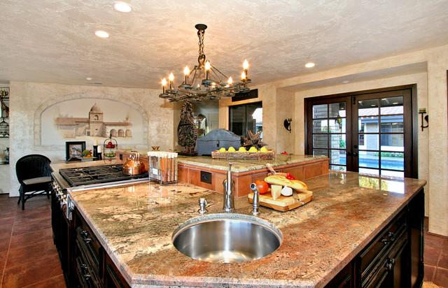 Spanish style kitchen remodel traditional kitchen - Kitchen and bath design san diego ...