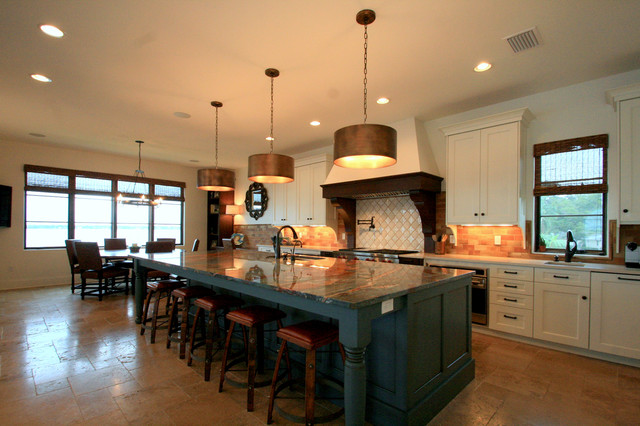 Large Kitchen Island Mediterranean Kitchen Tampa By Balber Architecture Inc
