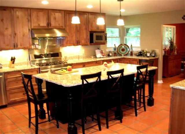 Large Kitchen Island With Eating And Entertaining Space Traditional Kitchen Other Metro