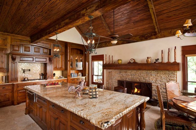 Large Kitchen Remodel Specialists Dallas TX Rustic Kitchen