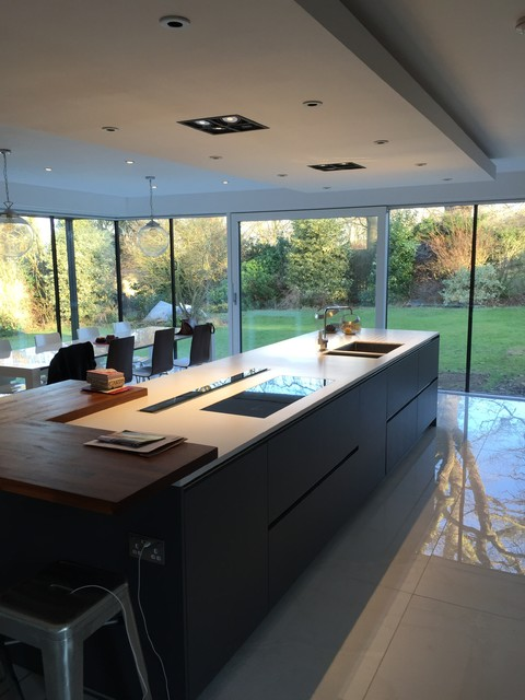 Large Modern Kitchen Extension Contemporary Kitchen West Midlands By The Design Centre Ltd