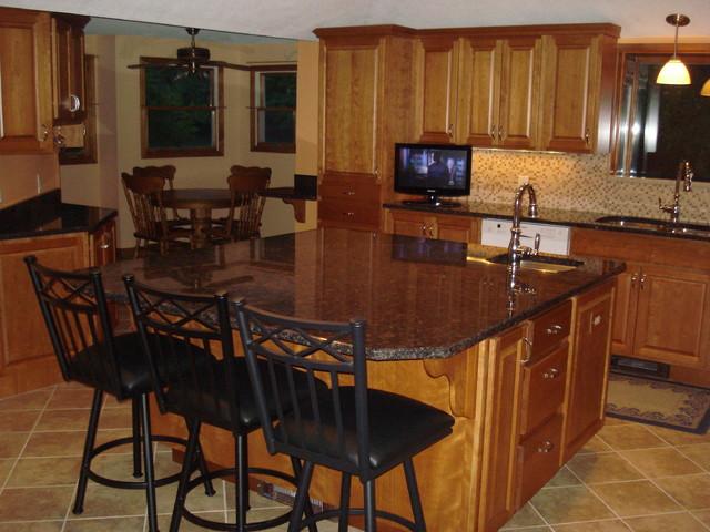 Large Orange Kitchen traditional-kitchen