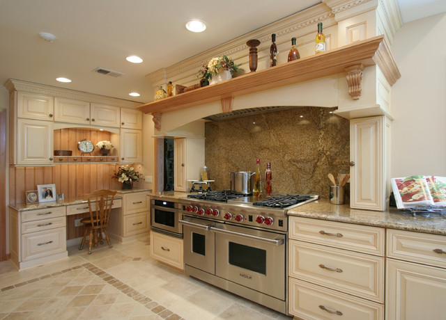 Large Tuscan Kitchen farmhouse-kitchen
