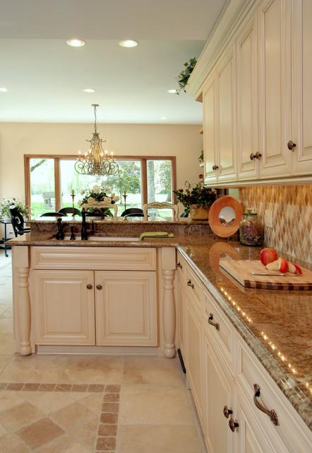 Large Tuscan Kitchen Farmhouse Kitchen Miami By