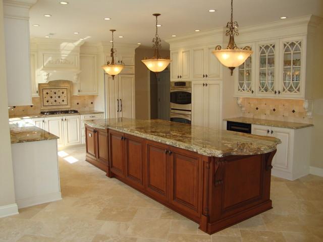large 2 level island kitchen - Traditional - Kitchen - Philadelphia ...