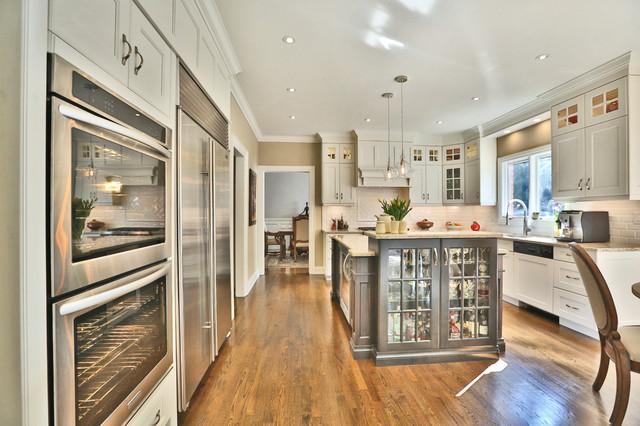 Large White Urban Kitchen Burlington Ontario Modern