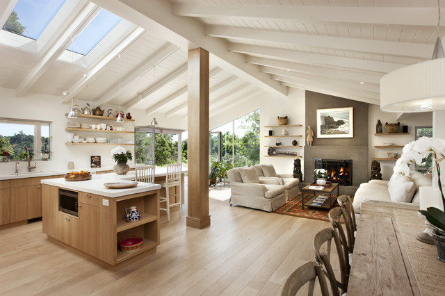Las Canoas Remodel Grand Room - Contemporary - Kitchen - Santa Barbara - by Allen Construction