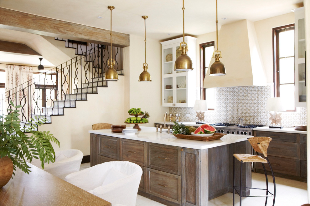 Example of a tuscan kitchen design in Other