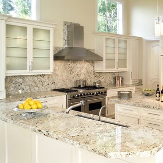 Latinum Granite - Traditional - Kitchen - miami - by Marble of the World