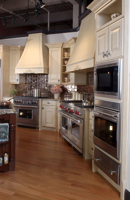 Latte Cabinets Traditional Kitchen Boston By Clarke Appliance Showrooms