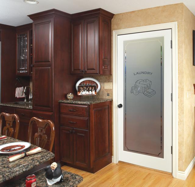 Laundry Decorative Glass Interior Doors - Traditional - Kitchen - sacramento - by HomeStory Easy ...