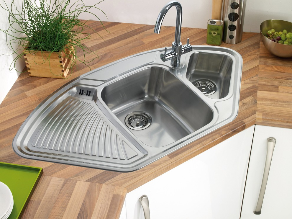 Lausanne 1 5b Stainless Steel Corner Sink Traditional Kitchen Other By Astracast