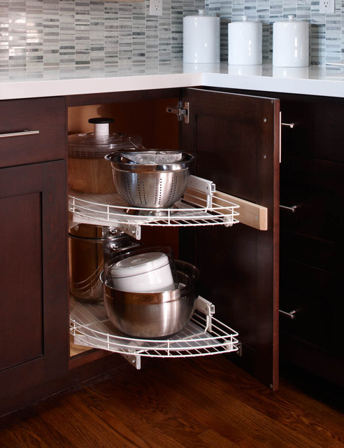 Lazy Susan contemporary kitchen