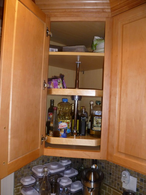 Lazy Susan Corner Cabinet Organizer - Traditional - Kitchen - Columbus - by ShelfGenie of Columbus