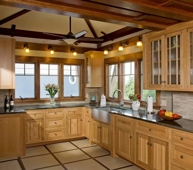 Updating Knotty Pine Kitchen Cabinets: LBI Residence