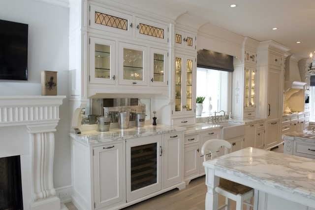 Leaded Glass inserts and doors designed for Kitchens - Traditional - Kitchen - toronto - by ...