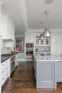 white kitchens with dark island 2