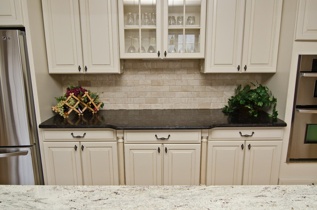Antique Brown Granite : Leathered antique brown granite and river valley