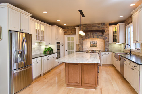 Love the color & shape of Island Countertop! Dimensions ...
