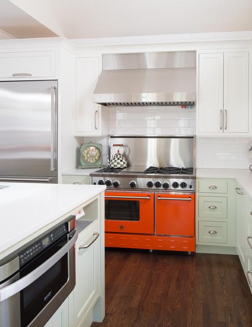 Leawood Colorful Kitchen transitional-kitchen