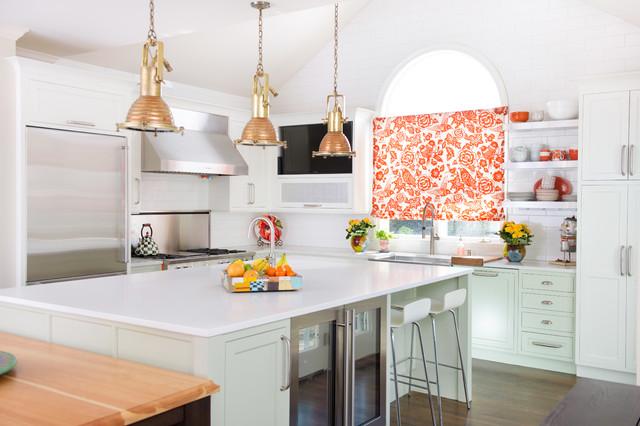 Leawood, KS Colorful Kitchen transitional-kitchen