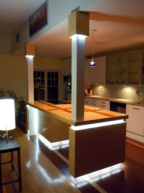 led kitchen island lighting contemporarykitchen led