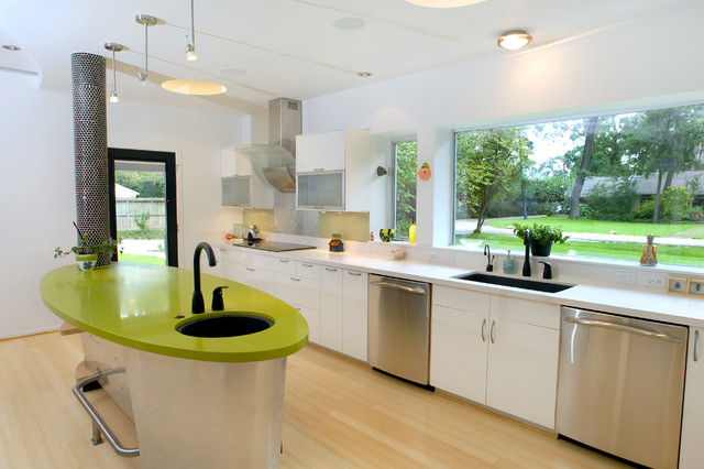 LEED Gold - Houston eclectic-kitchen