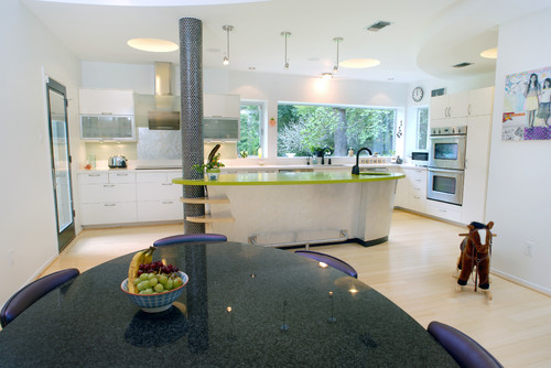 LEED Gold - Houston eclectic kitchen