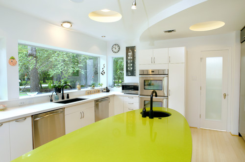 eclectic kitchen Eco Friendly Kitchen Remodeling