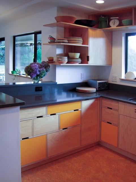 Leedy kitchen modern kitchen seattle by kerf design for Kitchen designer seattle