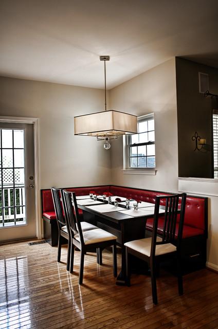 Leesburg Contemporary Kitchen - Banquette - contemporary - kitchen