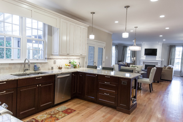 Leesburg Kitchen Family Room Deck Transitional Kitchen Other By Synergy Design