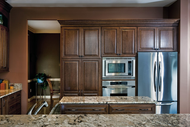 Leesburg Traditional Kitchen - Fridge & Ovens - Traditional - Kitchen ...