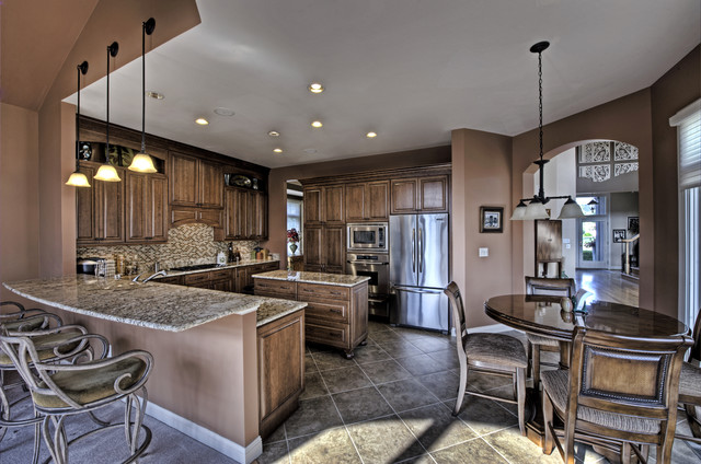 Leesburg Traditional Kitchen - Seating - Traditional - Kitchen - Other - by Synergy Design ...