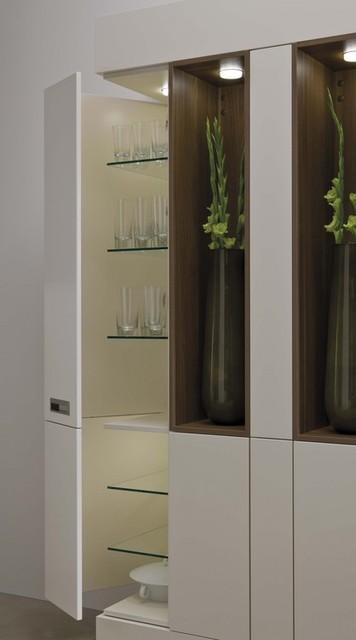 Leicht Angled Corner Unit modern-kitchen